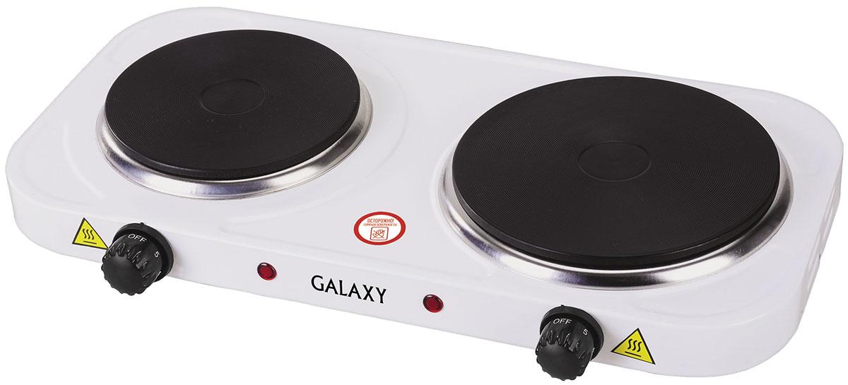 Galaxy GL 3002 плитка электрическая4630003364111Надежная электроплита Galaxy GL 3002 с двумя конфорками диаметром 18,5 см и 15 см. Идеальна для дома и дачи в любое время года. Компактный корпус, покрытый эмалью, позволяет легко мыть и ухаживать за прибором. Имеет регулятор нагрева и индикацию включения. Данная модель обладает суммарной мощностью 2500 Вт, что позволяет за несколько минут разогреть обед или вскипятить чайник с водой. Длина шнура питания: 0,8 м