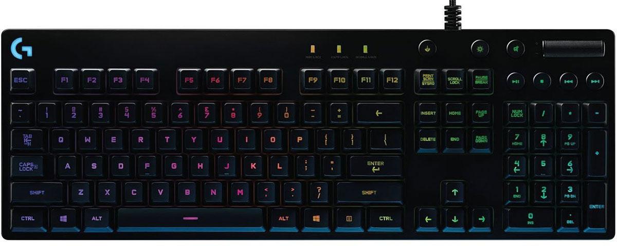 Logitech G810 Orion Spectrum игровая клавиатура920-007750Logitech G810 Orion Spectrum позволяет полностью сосредоточиться на игре. В конструкции клавиатуры, предназначенной для выполнения динамичных операций, реализованы самые эффективные технологии. Все элементы тщательно продуманы: от мельчайших деталей, таких как матовая текстурная поверхность, на которой не видны отпечатки пальцев, и прочный кабель с оплеткой, до усовершенствованной цветной подсветки и ультрабыстрых сверхнадежных механических переключателей Romer-G. В уникальной конструкции воплощены новейшие технологии и высочайшее качество, присущее всем изделиям производства Logitech G. Технология, обеспечивающая долговечность и высокую скорость работы: Эксклюзивные механические переключатели Romer-G от компании Logitech срабатывают практически мгновенно — на 25 % быстрее, чем обычные механические переключатели. Это дает преимущество в скорости, ведь во время игры на счету каждая миллисекунда. Переключатели Romer-G протестированы в цикле 70 миллионов...