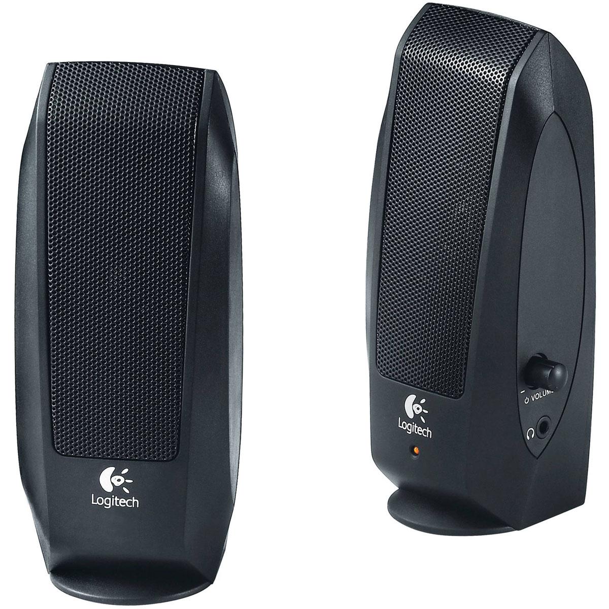 Logitech S120 Speaker System 2.0, Black колонки980-000010Две мультимедийные стереоколонки Logitech S120 дают чистый стереозвук с максимальной мощностью 2,3 Вт. Простое и удобное управление благодаря совмещению регулятора громкости и выключателя питания. Легкодоступный разъем для наушников на колонках S120 позволит вам насладиться музыкой в уединении. Длина шнура питания 1,5 м Кабель между колонками: 1,2 м