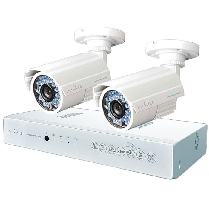 iVue D5004 AHC-B2 Дача 4+2 комплект видеонаблюденияIVUE-D5004 AHC-B2Комплект видеонаблюдения iVue D5004 AHC-B2 Дача 4+2 - это профессиональный набор систем охранного видеонаблюдения за вашим бизнесом, домом, дачей и т.д. Комплект включает в себя видеорегистратор AHD и 2 внешние всепогодные видеокамеры с разрешением сенсора 1 Мпикс,. AHD - самая современная технология кодирования и передачи видеоизображения по коаксиальному кабелю. Она позволяет передавать изображение с разрешением до 2 Мпикс на расстояние до 500 метров без потери качества изображения. Вы можете наблюдать за вашей собственностью из любой точки мира через интернет с помощью компьютера, планшета или смартфона. Простота подключения обеспечивается облачной технологией P2P. У вас так же есть возможность дополнить этот набор одной или двумя камерами по вашему выбору. Жесткий диск для этого набора приобретается отдельно и может иметь размер до 4 ТБ, что позволит вам поддерживать архив до 2-х месяцев без потери качества изображения. Набор...