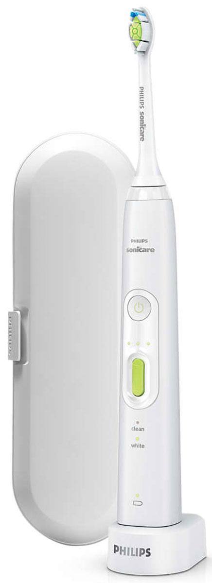 Philips HX8911/02, White электрическая зубная щеткаHX8911/02Не нужно отказываться от любимых продуктов, чтобы сохранить красивую и здоровую улыбку! Philips разработали для вас безопасное решение для ежедневного ухода за полостью рта — зубная щетка на аккумуляторах Philips HX8911/02 для отбеливания зубов. Доказано, что щетка удаляет до 100 % больше налета, позволяя добиться белоснежной улыбки всего за 1 неделю. Зубная щетка Philips HX8911/02 удаляет до 100 % больше потемнений с поверхности эмали. DiamondClean — это лучшие чистящие насадки Sonicare для отбеливания зубов. Щетинки средней жесткости в форме ромба бережно и эффективно удаляют налет. Электрическая зубная щетка Philips Sonicare обеспечивает исключительное очищение и более эффективное отбеливание зубов по сравнению с обычными зубными щетками. 2-минутный режим Clean (Чистка) обеспечивает эффективное удаление налета (время чистки, рекомендованное стоматологами). Режим White (Отбеливание) удаляет потемнения с поверхности эмали, отбеливает и полирует зубы. Борется с...