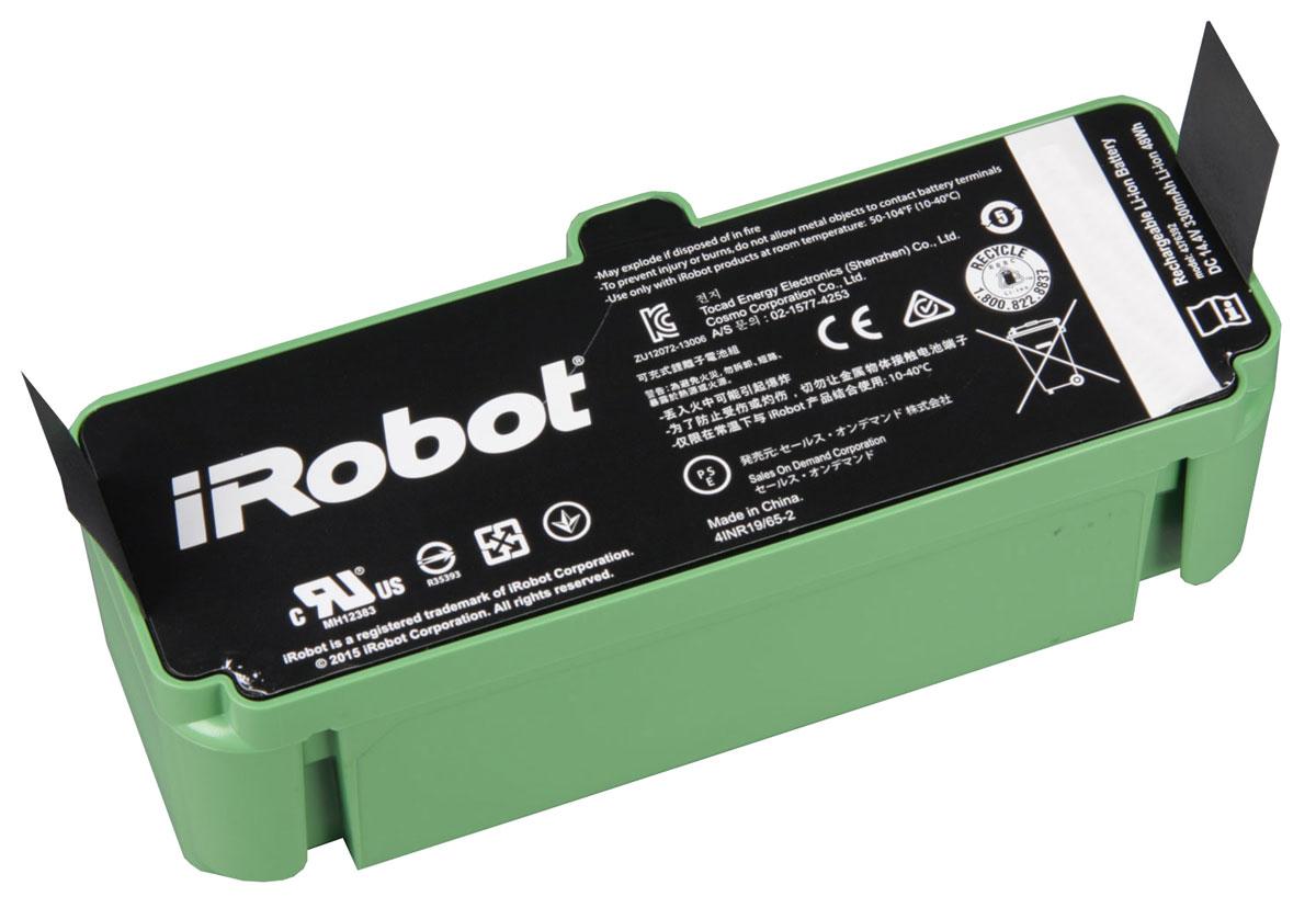 iRobot Ак980 аккумуляторная батарея для Roomba 980Ак980Перезаряжаемая аккумуляторная литий-ионная батарея iRobot Ак980 емкостью 3300 мА/ч. Очень удобно, когда под рукой есть запасная батарея. Если у вас большой дом, а батарея робота-пылесоса Roomba садится, вы можете просто заменить ее, и робот-пылесос продолжит уборку дома.
