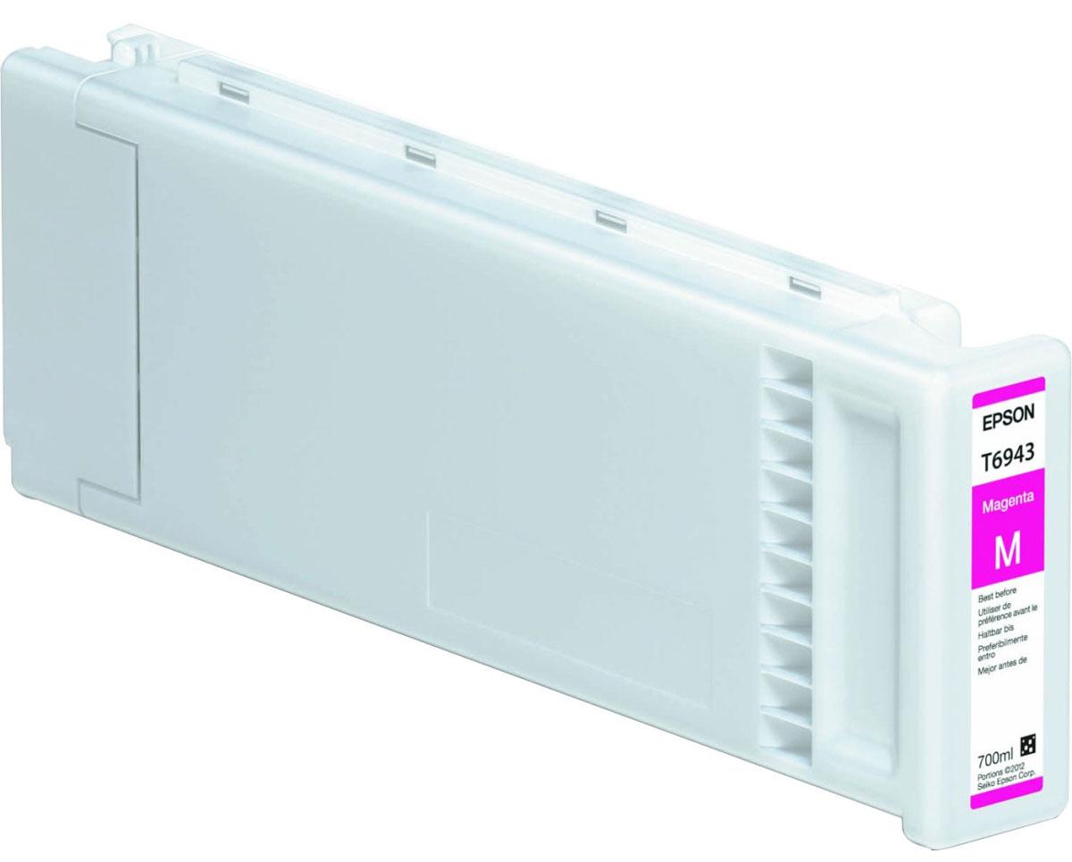 Epson T6943 (C13T694300), Magenta картридж для T3000/5000/7000C13T694300Картридж Epson T6943 для струйных принтеров Epson SureColor SC-T3000/5000/7000. Расходные материалы Epson для печати максимизируют характеристики принтера. Обеспечивают повышенную четкость изображения и плавность переходов оттенков и полутонов, позволяют отображать мельчайшие детали изображения. Обеспечивают надежное качество печати.