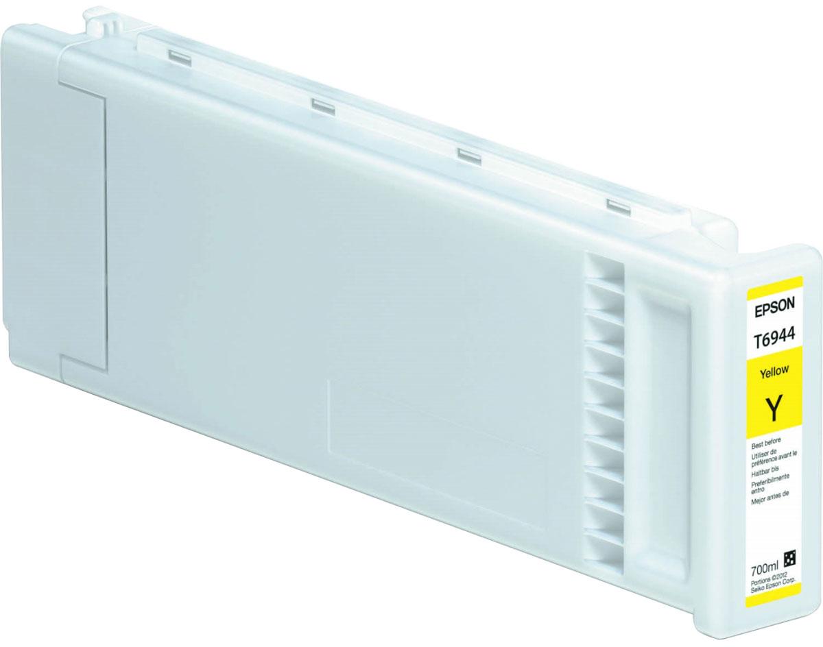 Epson T6944 (C13T694400), Yellow картридж для T3000/5000/7000C13T694400Картридж Epson T6944 для струйных принтеров Epson SureColor SC-T3000/5000/7000. Расходные материалы Epson для печати максимизируют характеристики принтера. Обеспечивают повышенную четкость изображения и плавность переходов оттенков и полутонов, позволяют отображать мельчайшие детали изображения. Обеспечивают надежное качество печати.