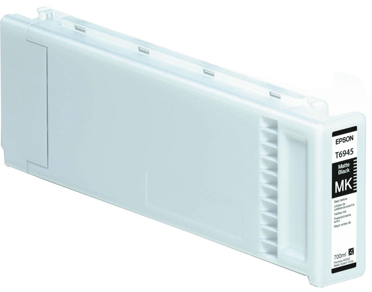 Epson T6945 (C13T694500), Matte Black картридж для T3000/5000/7000C13T694500Картридж Epson T6945 для струйных принтеров Epson SureColor SC-T3000/5000/7000. Расходные материалы Epson для печати максимизируют характеристики принтера. Обеспечивают повышенную четкость изображения и плавность переходов оттенков и полутонов, позволяют отображать мельчайшие детали изображения. Обеспечивают надежное качество печати.