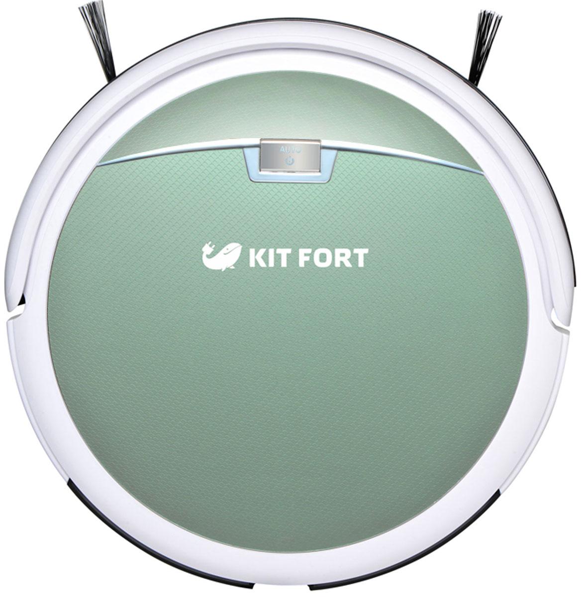 Kitfort KT-519-1, Light Green робот-пылесос ( KT-519-1 светло-зелёный )