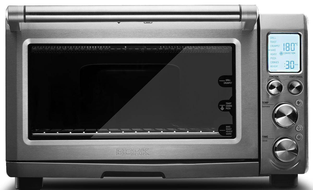 Bork W500 мини-печьW500Духовой шкаф Bork W500 объемом 22 л с расширенным набором функций: гриль, обжарка, выпечка. 9 автоматических программ для приготовления тостов с хрустящей корочкой, необычайно вкусного печенья, отличной пиццы и других блюд. 5 кварцевых нагревательных элементов могут работать как по отдельности, так и в комбинации в зависимости от выбранного режима. Благодаря этой особенности настройки максимально точны и легко адаптируются под определенный вид продуктов. Электронное управление. Интеллектуальная система распределения мощности — IQ System обеспечивает оптимальный результат приготовления. На информативном дисплее отображаются все необходимые данные о заданном режиме: программа, температура и время приготовления.