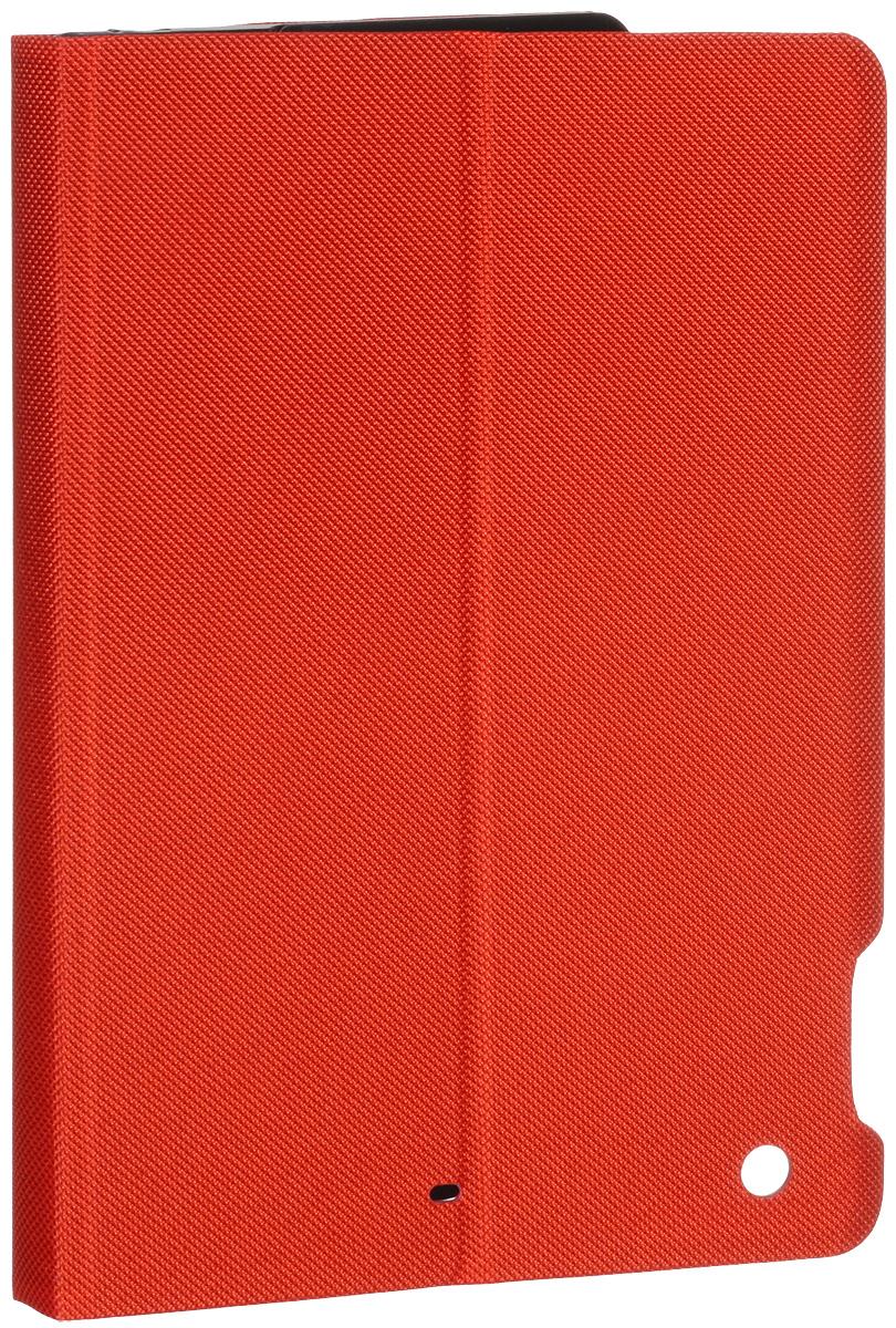 Logitech Folio Type for iPad Air, Red чехол-клавиатура920-006568Превратите ваш iPad Air в ноутбук! Клавиатура - чехол Logitech Folio Type имеет комфортное расположение клавиш и оптимизированную раскладку. Она оснащена стандартными кнопками, а также выделенным рядом клавиш iOS. Двухпозиционная подставка позволяет размещать планшет именно так, как вам удобно. Прочный двусторонний чехол - клавиатура с магнитной застежкой также помогает защитить ваш IPad от случайных ударов, царапин и пятен. Водоотталкивающий текстильный материал позволяет уберечь устройство от случайного попадания на него жидкости. Чехол-клавиатура выводит планшет из спящего режима при открытии крышки и возвращает его в режим сна при закрытии.