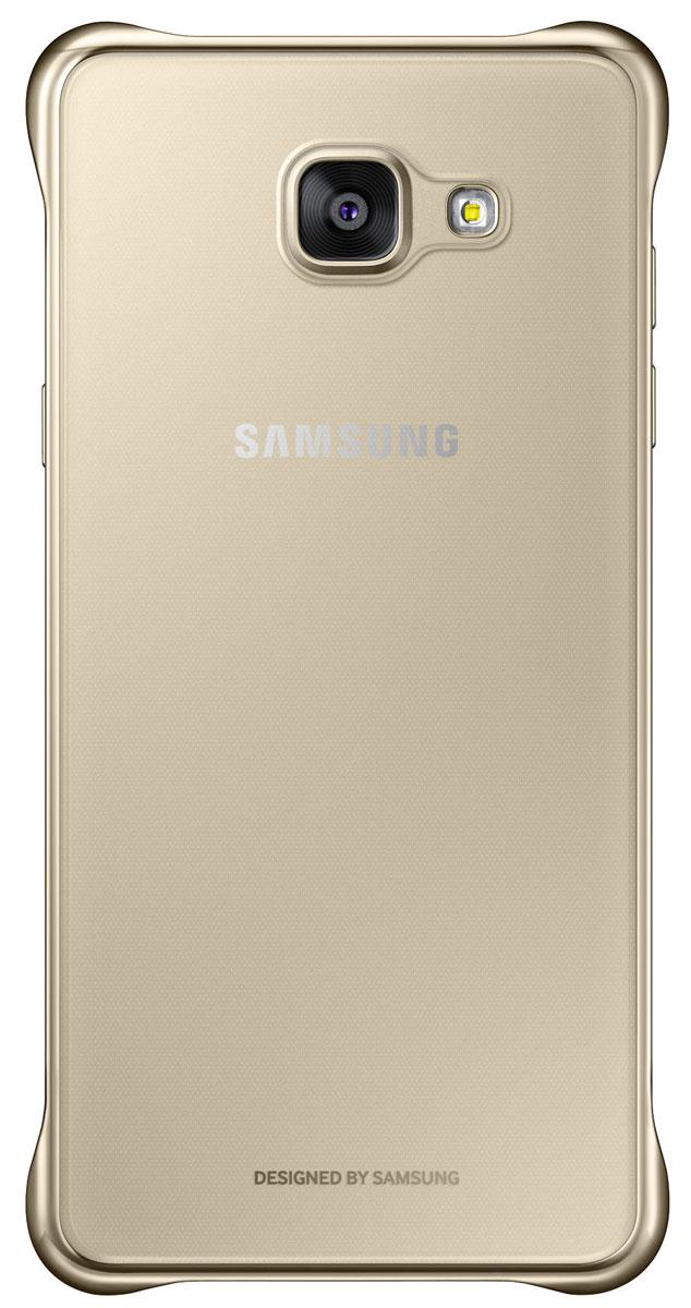 Samsung EF-QA510 ClearCover чехол для Galaxy A5, GoldEF-QA510CFEGRUЧехол Samsung Clear Cover подходит для модели смартфона Samsung Galaxy A5 (SM-A510F). Оригинальный аксессуар плотно прилегает к корпусу устройства и защищает от механических повреждений и пыли. Прозрачная поверхность чехла с цветной окантовкой сохраняет оригинальный внешний вид Galaxy A5 (SM-A510F). Чехол сделан из прочного поликарбоната, легко надевается и снимается. При использовании чехла в паре со смартфоном все функциональные порты и клавиши остаются доступными.