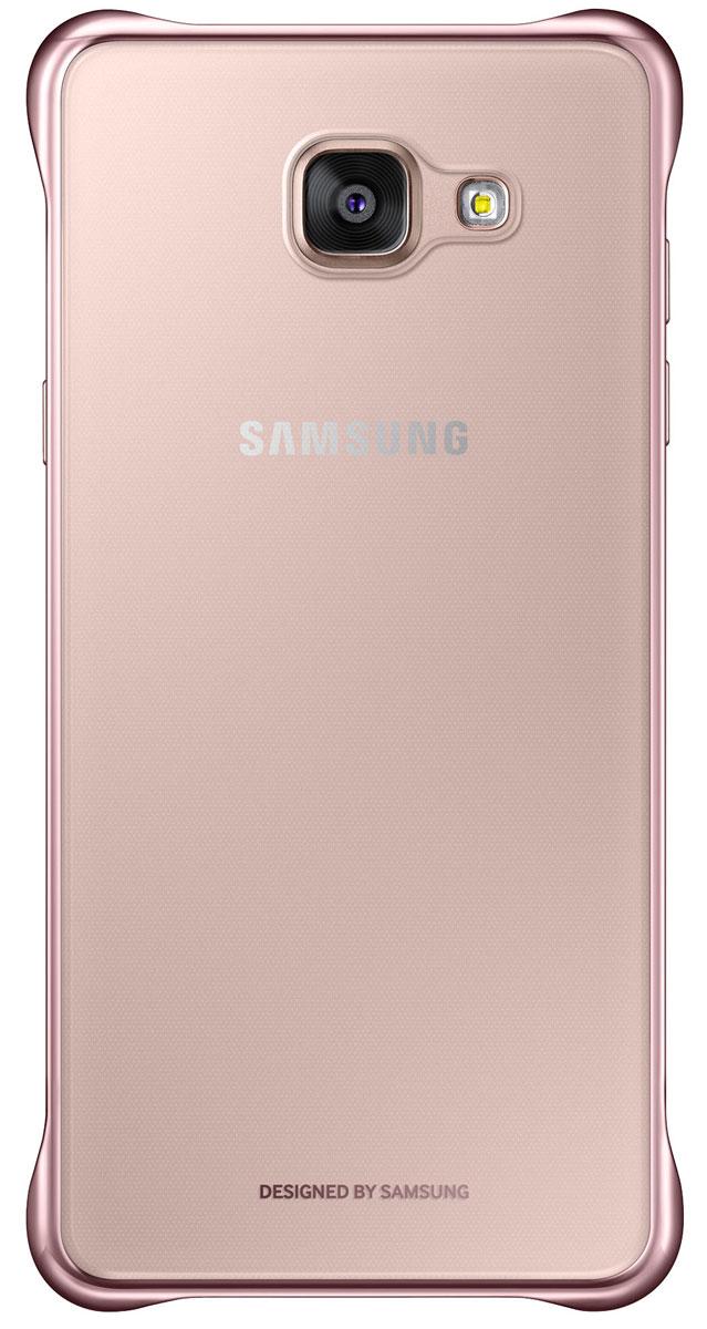 Samsung EF-QA510 ClearCover чехол для Galaxy A5, PinkEF-QA510CZEGRUЧехол Samsung Clear Cover подходит для модели смартфона Samsung Galaxy A5 (SM-A510F). Оригинальный аксессуар плотно прилегает к корпусу устройства и защищает от механических повреждений и пыли. Прозрачная поверхность чехла с цветной окантовкой сохраняет оригинальный внешний вид Galaxy A5 (SM-A510F). Чехол сделан из прочного поликарбоната, легко надевается и снимается. При использовании чехла в паре со смартфоном все функциональные порты и клавиши остаются доступными.