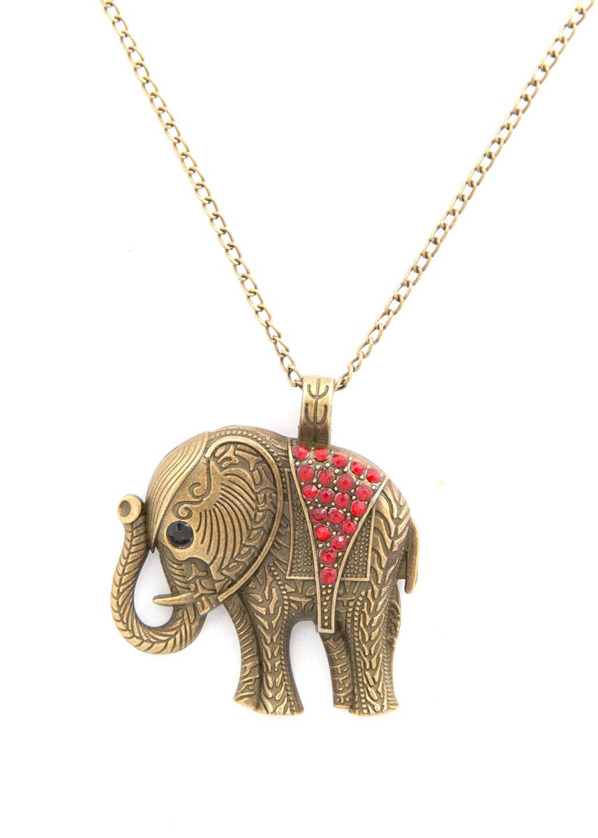 Кулон Mitya Veselkov Слон, цвет: античное золото. PDV-100PDV-100Стильный кулон Mitya Veselkov Слон изготовлен из ювелирного сплава, дополнен цепочкой с классическим плетением. Кулон выполнен в виде индийского слона и инкрустирован стразами. Оригинальный аксессуар идеально дополнит ваш образ.