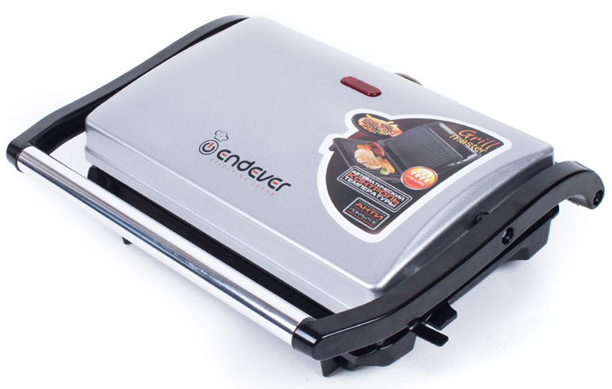 Endever 115 Grillmaster электрогрильGrillmaster 115Благодаря компактным и элегантным размерам электрогриль Endever 115 Grillmaster является ценным помощником на кухне. При приготовлении пищи в гриле можно использовать минимальное количество масла, что позволяет готовить менее жирную и диетическую пищу. Модель очень проста и удобна в использовании. Прибор выполнен из качественных и прочных материалов, что значительно продлевает срок службы. Ненагревающаяся эргономичная ручка Автоматический контроль температуры Антипригарное покрытие поверхностей