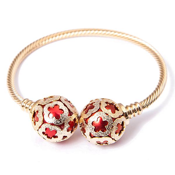 Браслет жен. Selena Street Fashion, цвет: золотистый, красный. 4005398040053980Гальваническое покрытие: золото.