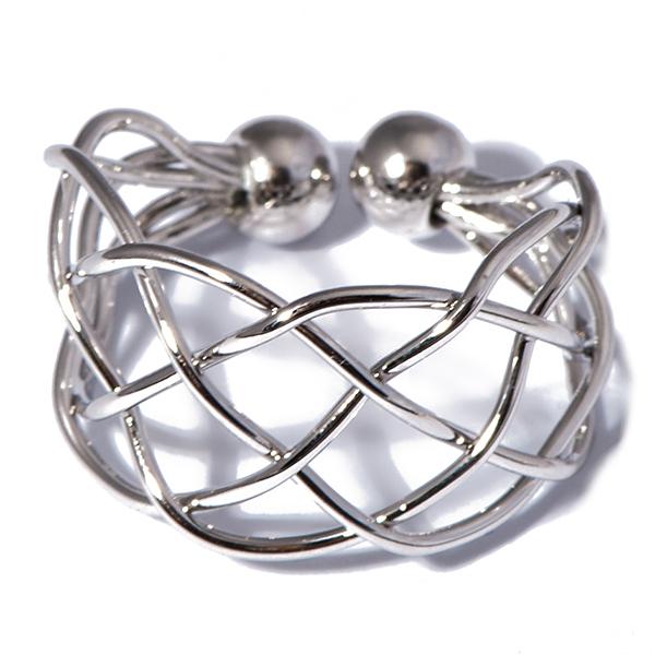 Кольцо жен. Selena Street Fashion, цвет: серый. 6002238060022380Гальваническое покрытие: родий.