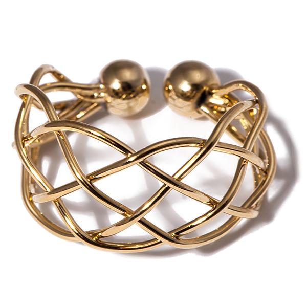 Кольцо жен. Selena Street Fashion, цвет: золотистый. 6002239060022390Гальваническое покрытие: золото.