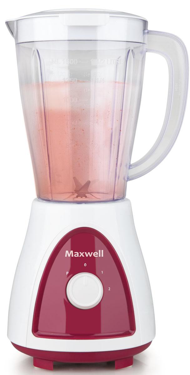 Maxwell MW-1171(BD) блендерMW-1171(BD)Блендер Maxwell MW-1171(BD) позволят сделать ваш повседневный рацион питания более разнообразным. Данная техника рассчитана на измельчение разных видов продуктов. При помощи него вы без труда измельчите овощи, смешаете тесто, приготовите коктейли и соки, взобьете кремы, раздробите кусочки льда и многое другое. При своей высокой функциональности блендер не занимает много места на кухонном столе. Он весьма компактен, а наличие нескольких режимов работы позволит без труда получить желаемый результат при измельчении продуктов. Пользоваться настольным блендером Maxwell MW-1171(BD) настоящее удовольствие. Включив прибор в сеть, вам потребуется лишь загрузить продукты в емкость и выбрать подходящий режим работы. Всего лишь несколько секунд потребуется для измельчения или смешивания продуктов.