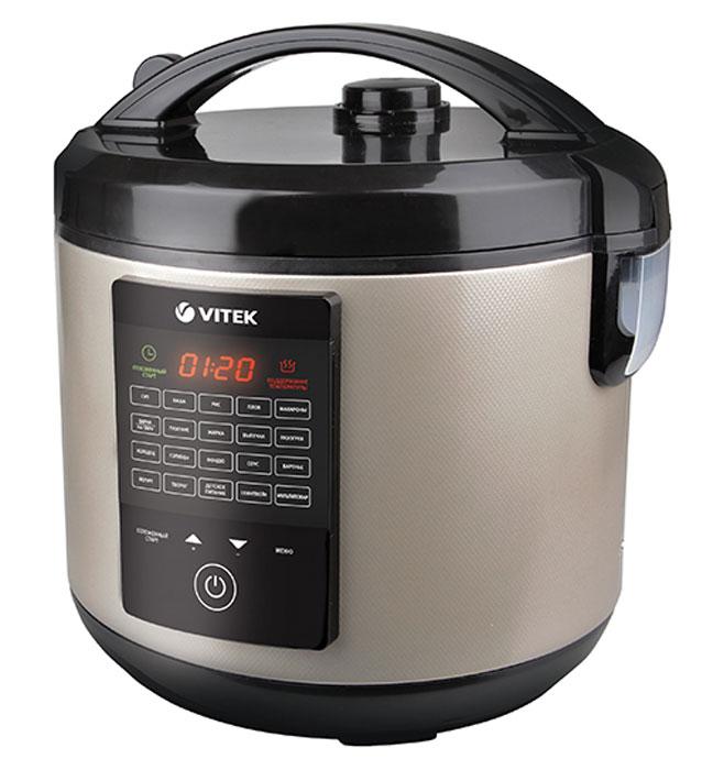 Vitek VT-4271(CM) мультиваркаVT-4271(CM)Здоровая еда – фундамент хорошего самочувствия и долголетия. Совсем необязательно проводить всё время на кухне, изобретая вкусные блюда. И не нужно быть специалистом, чтобы научиться готовить разнообразно и полезно. С самыми сложными и простыми блюдами вам поможет справиться мультиварка Vitek VT-4271(CM). Этот прибор оснащён множеством самых разных функций, что позволяет использовать его по максимуму, независимо от кулинарных предпочтений. Устройство способно тушить, жарить, варить на пару, а также печь – все достоинства собраны в одной мультиварке. Наряду с многофункциональностью, эта бытовая техника работает, экономно расходуя электроэнергию и позволяя вам экономить своё время. Конструкция мультиварки разработана таким образом, что её использование не составляет труда – разобраться в инструкции просто. Техника не требует особого ухода и легко очищается от загрязнений. Она найдёт своё место на кухне занятой деловой женщины или домохозяйки, которой...
