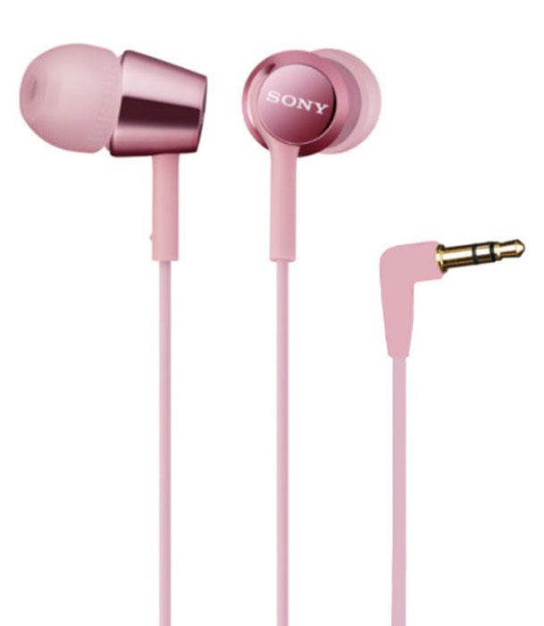 Sony MDR-EX150, Pink наушникиMDR-EX150_pinkНаушники-вкладыши Sony MDR-EX150 предлагаются в десяти ярких цветовых решениях, что позволит вам подобрать пару наушников под свой индивидуальный стиль. Динамики с неодимовыми магнитами и с диаметром диффузора 9 мм обеспечивают яркое энергичное звучание музыки, а диапазон воспроизводимых частот от 5 Гц до 24 кГц идеально подойдет для популярных стилей музыки.