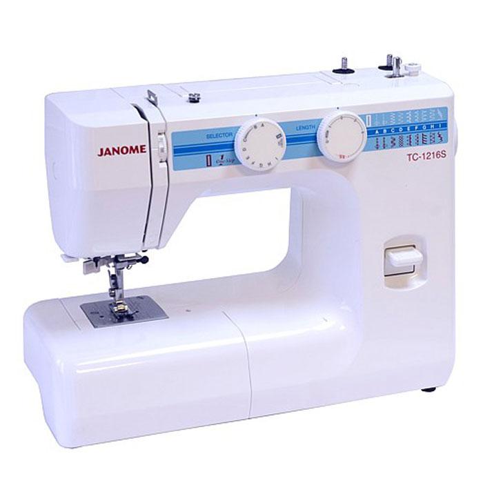 Janome TC 1216 S швейная машинаTC1216SJanome TC 1216 S - швейная машина для шитья и ремонта одежды. Она оборудована надежным вертикальным качающимся челноком, применяемым в бытовых швейных машинах уже многие десятилетия. Данная модель очень проста в управлении. Хорошо работает с разными видами тканей - легкими, средними, тяжелыми и сверхтяжелыми. Одно из самых важных достоинств – плавная регулировка длины стежка и ширины зигзага, что обеспечивает практичность и простоту осуществления настроек. Автоматическое выметывание петель позволит вам быстро и качественно выполнить петли различной длины. Рукавная платформа служит для удобства обработки манжет, низа брюк и других трубчатых изделий. При шитье двойной иглой на швейную машину устанавливается вторая катушка.