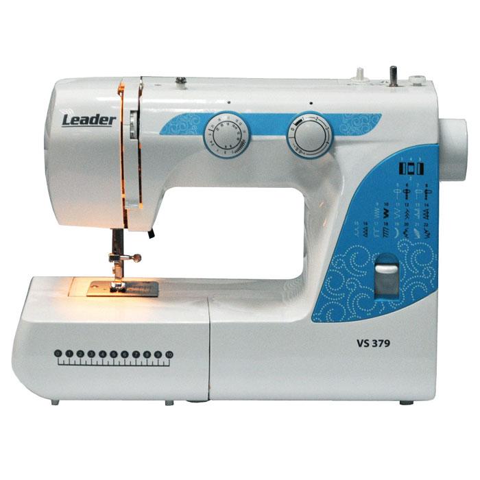 Leader VS379 швейная машинаVS379Leader VS 379 - отличный выбор для тех, кому необходима швейная машина для домашнего использования. Данная модель подойдет для множества типов материалов. Leader VS 379 включает в себя 22 швейные операции. Обработка петли производиться в полуавтоматическом режиме (в 4 приёма), а с регулировками длины стежка и ширины зигзага, вы, сможете выметать петлю даже на самых тонких материалах. Корпус данной модели выполнен из качественного пластика. Оптимальный набор функций в этой модели поможет создавать изделия для себя и семьи.