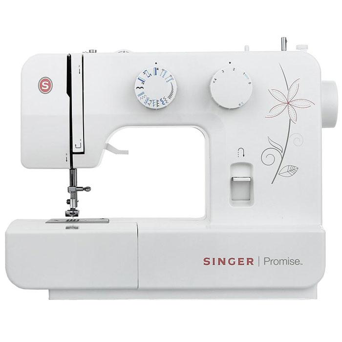 Singer Promise 1412 швейная машинаPromise1412Недорогая компактная швейная машина Singer Promise 1412 умеет делать все основные швейные операции и отлично подойдет для обучения шитью, ремонта одежды, шитья несложных вещей и других подобных работ. Простота в выборе строчек, регулируемая длина стежка, выметывание 4-х - шаговой петли - все это доступно с максимальной простотой и удобством шитья. Быстрая и простая замена прижимной лапки, а также отсек для хранения аксессуаров обеспечит удобство в регулярном использовании модели. Singer Promise 1412 относится к приборам электромеханического типа. Электромеханические машины снабжены электрический мотором, который приводит в движение маховое колесо. Скорость шитья зависит от силы нажатия на ножную педаль. Эта швейная машина также снабжена традиционным качающемся челноком.