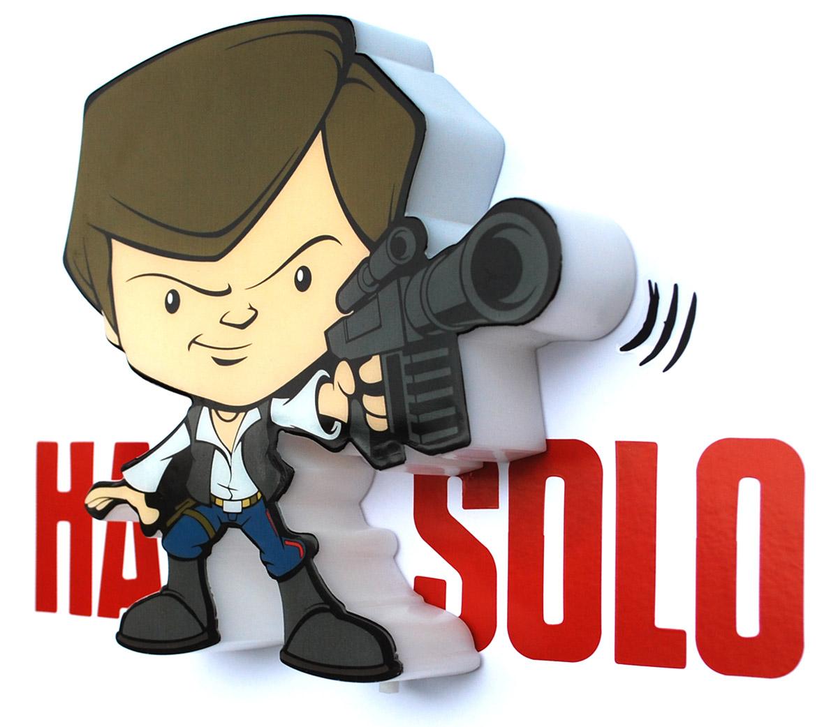 Star Wars Пробивной 3D мини-светильник Хан Соло50014120Безопасный: без проводов, работает от батареек (2хААА, не входят в комплект); Не нагревается: всегда можно дотронуться до изделия; Реалистичный:3D наклейка в комплекте; Фантастический: выглядит превосходно в любое время суток; Удобный: простая установка (автоматическое выключение через полчаса непрерывной работы). Товар предназначен для детей старше 3 лет. ВНИМАНИЕ! Содержит мелкие детали, использовать под непосредственным наблюдением взрослых. Страна происхождения: Китай. Дизайн и разработка: Канада.