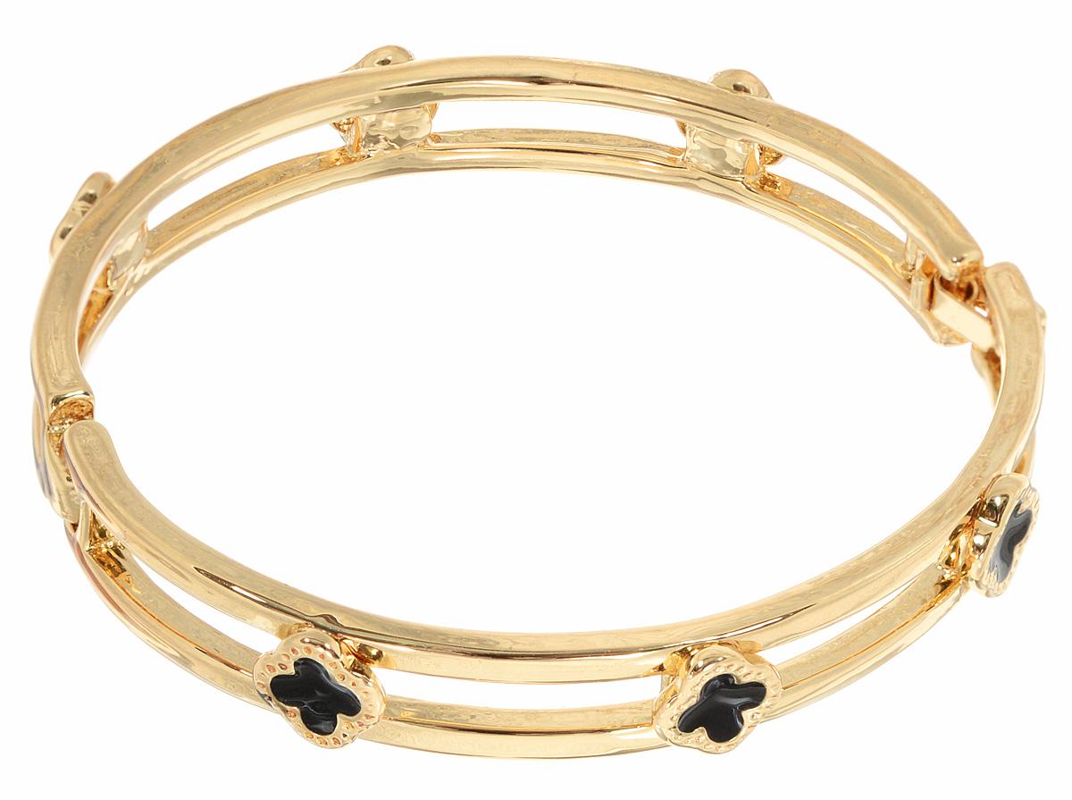 Браслет Taya, цвет: золотистый. T-B-10804T-B-10804-BRAC-GOLDБраслет современного дизайна Taya изготовлен из металлического сплава. Изделие оформлено декоративными элементами в виде цветочков, которые дополнены эмалью. Украшение застегивается на надежный замок-пряжку. Оригинальный браслет придаст вашему образу изюминку, подчеркнет красоту и изящество вечернего платья или преобразит повседневный наряд.