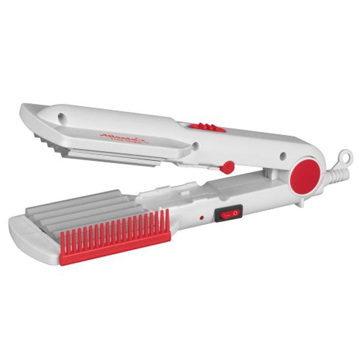 Atlanta ATH-935 щипцы для укладки волосATH-935Щипцы для укладки волос Atlanta ATH-935. Благодаря сбалансированному керамическому нагревательному элементу, прибор набирает рабочую температуру 150°C за 120 секунд и не достигает опасной для волос температуры. Два типа рабочих поверхностей позволяет использовать стайлер для разного типа причесок. К тому же, замена насадки осуществляется простым переключателям и вам не придется отдельно хранить дополнительный набор насадок. Эргономичный дизайн и фиксация в сложенном виде, для компактного хранения, все это придает дополнительный комфорт при использовании данных щипцов каждый день. Размер насадок: 54 мм х 69 мм