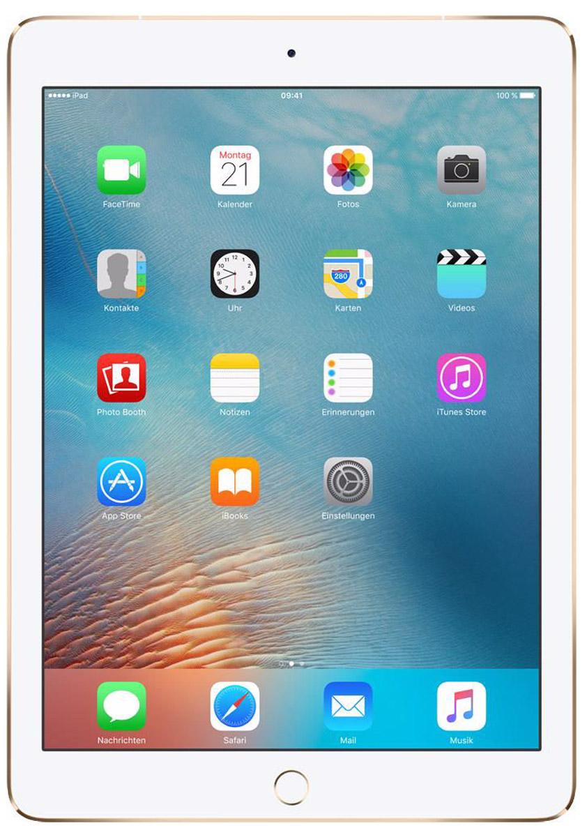 Apple iPad Pro 9,7 Wi-Fi + Cellular 32GB, GoldMLPY2RU/AiPad Pro с дисплеем диагональю 9,7 дюйма весит менее 500 граммов и оснащен новым профессиональным дисплеем Retina с более высокой яркостью, расширенной цветовой палитрой и сниженным уровнем бликов. В новом iPad Pro также используется режим Night Shift и технология дисплея True Tone, позволяющая значительно улучшить регулировку баланса белого. Для невероятной производительности в устройстве установлен процессор A9X с 64-битной архитектурой, который превосходит по мощности большинство портативных компьютеров. Аудиосистема с четырьмя динамиками стала в два раза мощнее. Новая 12-мегапиксельная камера iSight позволяет снимать Live Photos и видео 4K. iPad Pro также оснащён 5-мегапиксельной HD-камерой FaceTime и поддерживает более быстрые беспроводные технологии. Кроме того, устройство совместимо с уникальным Apple Pencil и новой клавиатурой Smart Keyboard, созданной специально для iPad Pro с дисплеем 9,7 дюйма. В 9,7-дюймовом дисплее нового iPad Pro использованы...