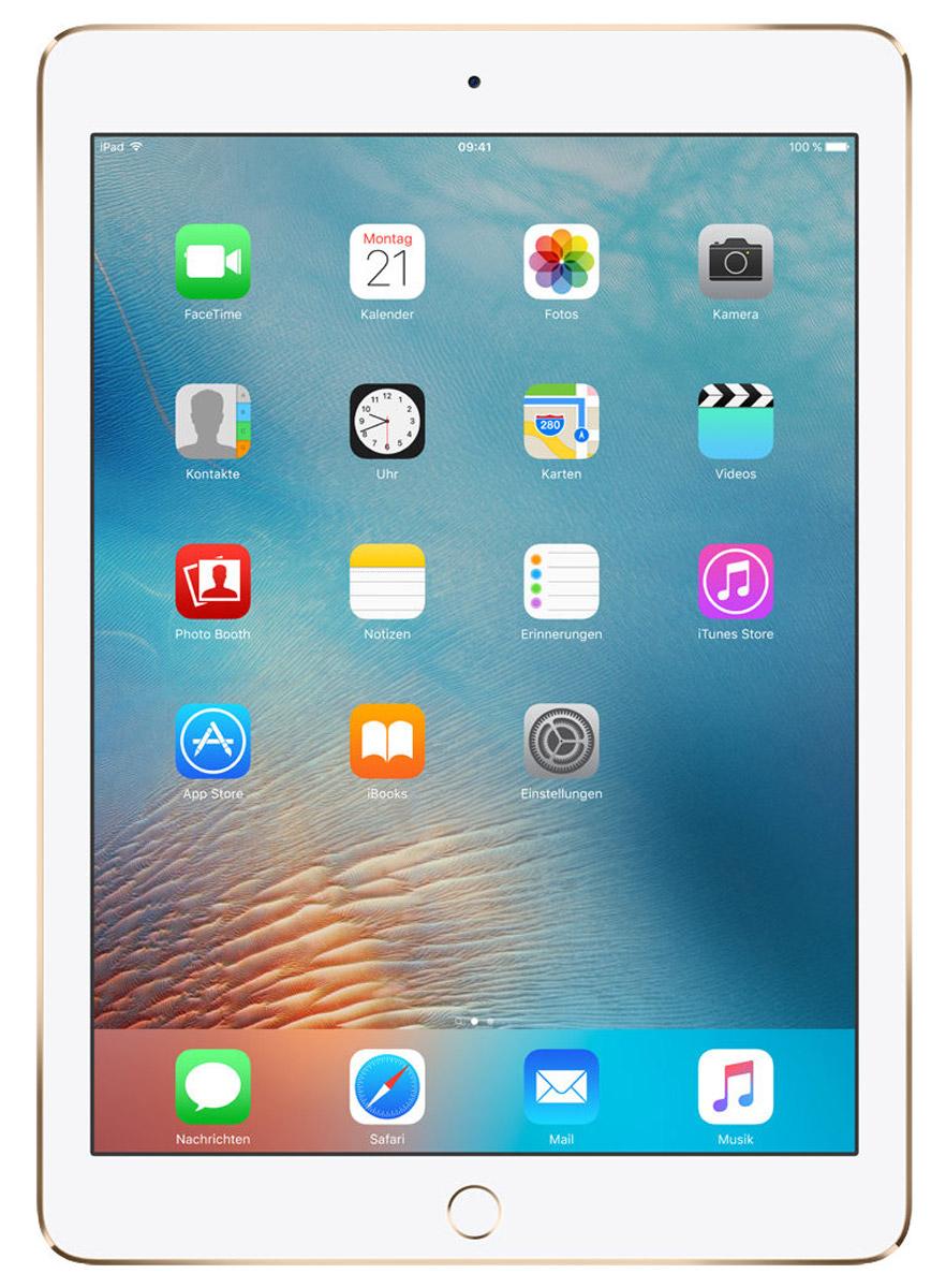 Apple iPad Pro 9,7 Wi-Fi 128GB, GoldMLMX2RU/AiPad Pro с дисплеем 9,7 дюйма весит менее 500 граммов и оснащен новым профессиональным дисплеем Retina с более высокой яркостью, расширенной цветовой палитрой и сниженным уровнем отражения. В новом iPad Pro также используется режим Night Shift и технология дисплея True Tone, позволяющая значительно улучшить регулировку баланса белого. Для невероятной производительности в устройстве установлен процессор A9X с 64-битной архитектурой, который превосходит по мощности большинство портативных компьютеров PC. Аудиосистема с четырьмя динамиками стала в два раза мощнее. Новая 12-мегапиксельная камера iSight позволяет снимать Live Photos и видео 4K. iPad Pro также оснащён 5-мегапиксельной HD-камерой FaceTime и поддерживает более быстрые беспроводные технологии. Кроме того, устройство совместимо с уникальным Apple Pencil и новой клавиатурой Smart Keyboard, созданной специально для iPad Pro с дисплеем 9,7 дюйма. В 9,7-дюймовом дисплее нового iPad Pro...