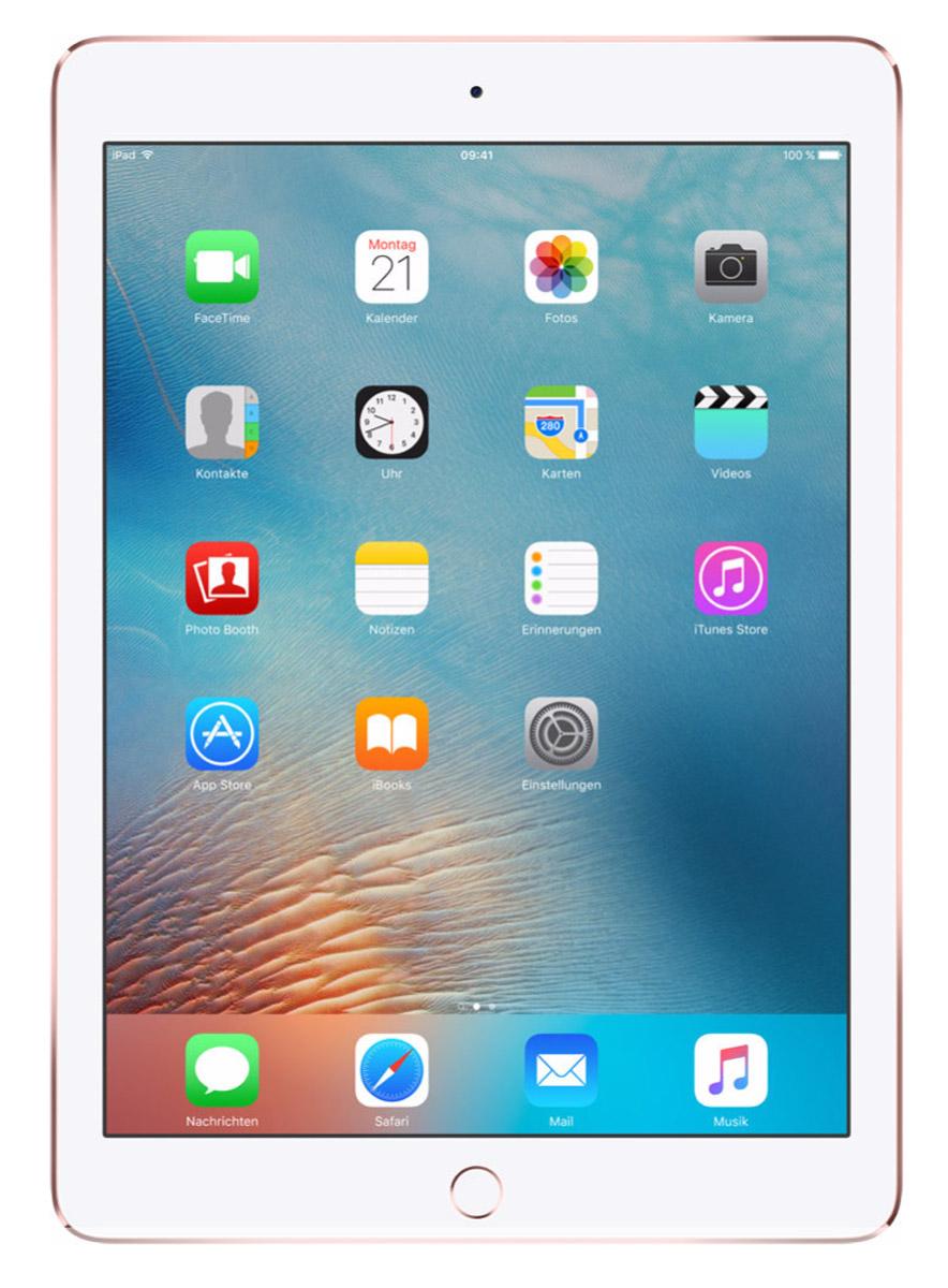 Apple iPad Pro 9,7 Wi-Fi 128GB, Rose GoldMM192RU/AiPad Pro с дисплеем 9,7 дюйма весит менее 500 граммов и оснащен новым профессиональным дисплеем Retina с более высокой яркостью, расширенной цветовой палитрой и сниженным уровнем отражения. В новом iPad Pro также используется режим Night Shift и технология дисплея True Tone, позволяющая значительно улучшить регулировку баланса белого. Для невероятной производительности в устройстве установлен процессор A9X с 64-битной архитектурой, который превосходит по мощности большинство портативных компьютеров PC. Аудиосистема с четырьмя динамиками стала в два раза мощнее. Новая 12-мегапиксельная камера iSight позволяет снимать Live Photos и видео 4K. iPad Pro также оснащён 5-мегапиксельной HD-камерой FaceTime и поддерживает более быстрые беспроводные технологии. Кроме того, устройство совместимо с уникальным Apple Pencil и новой клавиатурой Smart Keyboard, созданной специально для iPad Pro с дисплеем 9,7 дюйма. В 9,7-дюймовом дисплее нового iPad Pro...