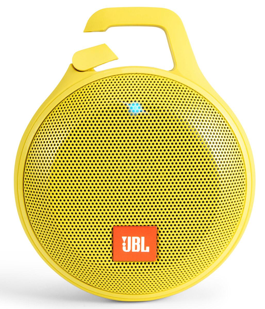 JBL Clip+, Yellow портативная акустическая системаJBLCLIPPLUSYELJBL Clip+ – это сверхлегкий, сверхпрочный и сверхмощный портативный динамик. JBL Clip+ с добавленной защитой от брызг предлагает пользователю 5 часов автономной работы, так что вы сможете взять свою музыку куда угодно на земле и на воде. Выполняйте беспроводную потоковую передачу музыки по Bluetooth или подключите динамик к любому смартфону или планшету с помощью встроенного аудиокабеля. Используйте спикерфон для четкой телефонной связи без шумов и эха. Модель JBL Clip+ оснащена встроенным креплением-карабином, который позволяет цеплять динамик на одежду или рюкзак и брать его с собой в походы и поездки.