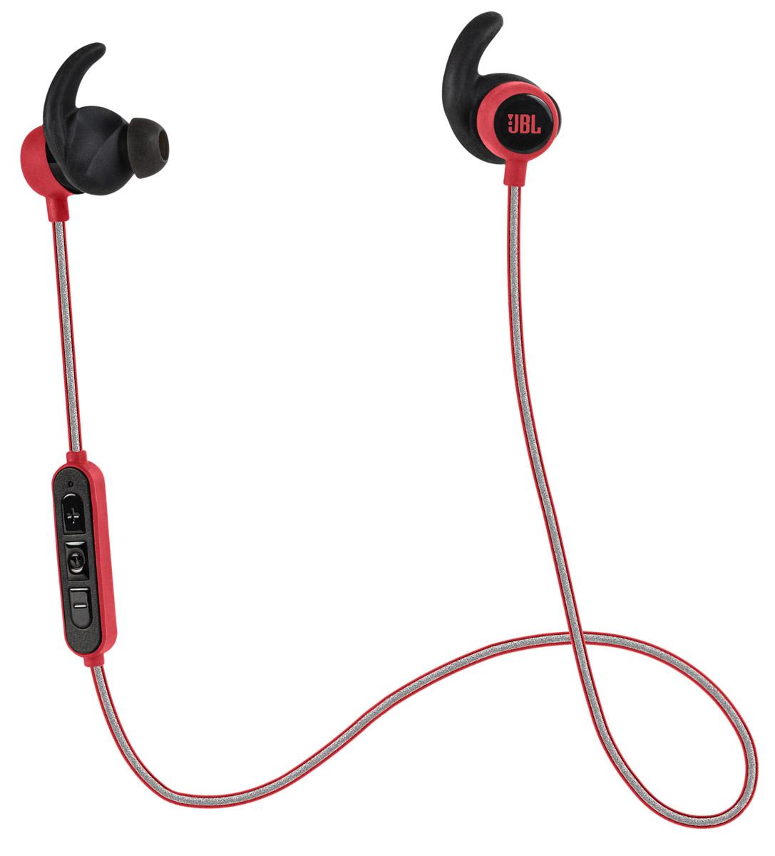 JBL Reflect Mini BT, Red беспроводные наушникиJBLREFMINIBTREDПредставляем спортивные Bluetooth-наушники JBL Reflect Mini. Защищенные от капель пота, с вкладышами, не торчащими из ушей, эти сверхлегкие наушники обеспечивают потрясающее звучание JBL, вдохновляя вас на спортивные достижения. Выполняйте кроссфит с уверенностью и тренируйтесь с легкостью, поскольку спортивные Bluetooth-наушники JBL Reflect Mini не ограничивают вас проводами и обеспечивают 8 часов воспроизведения через высококачественные 5,8-мм мембраны. Пульт управления и микрофон, управляемые одной кнопкой, стильный ассортимент цветов и возможность с легкостью очищать наушники после использования понравятся в равной степени как тем, кто обращается к спорту лишь по выходным, так и серьезным спортсменам. Светоотражающий кабель хорошо заметен в темное время суток.