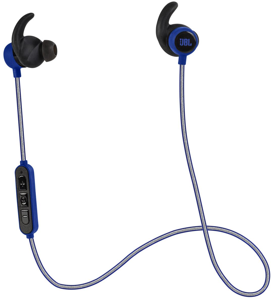JBL Reflect Mini BT, Blue беспроводные наушникиJBLREFMINIBTBLUJBL Reflect Mini BT - это спортивные беспроводные наушники. Защищенные от капель пота, с вкладышами, не торчащими из ушей, эти сверхлегкие наушники обеспечивают потрясающее звучание JBL, вдохновляя вас на спортивные достижения. Дизайн, разработанный специально для тренировок, защитит наушники от капель пота, и они будут дарить легендарное звучание JBL несмотря ни на что. Поддержка технологии Bluetooth позволяет передавать потоковую музыку в высоком качестве с мобильных устройств. Источником звука может быть мобильный телефон, планшетное устройство или ноутбук - эта модель сможет с ним работать. Выполняйте кроссфит с уверенностью и тренируйтесь с легкостью, поскольку спортивные Bluetooth-наушники JBL Reflect Mini не ограничивают вас проводами и обеспечивают 8 часов воспроизведения через высококачественные 5,8-мм мембраны. Пульт управления и микрофон, управляемые одной кнопкой, стильный ассортимент цветов и возможность с легкостью...