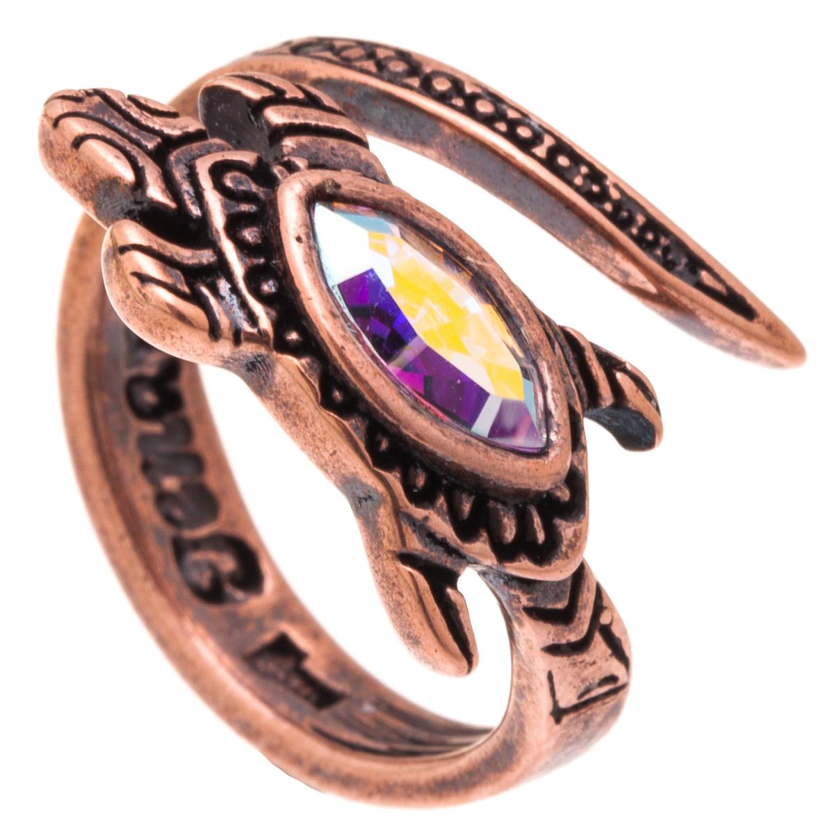 Кольцо Jenavi Калпеса, цвет: медный. k343u070. Размер 16k343u070Оригинальное кольцо Jenavi Калпеса изготовлено из ювелирного сплава с медным покрытием. Декоративный элемент украшения выполнен в виде ящерицы и инкрустирован кристаллом Swarovski. Стильное кольцо придаст вашему образу изюминку и подчеркнет индивидуальность.