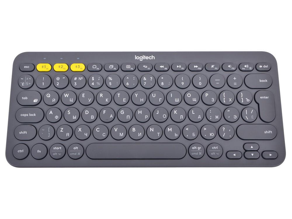 Logitech K380, Dark Grey беспроводная клавиатура