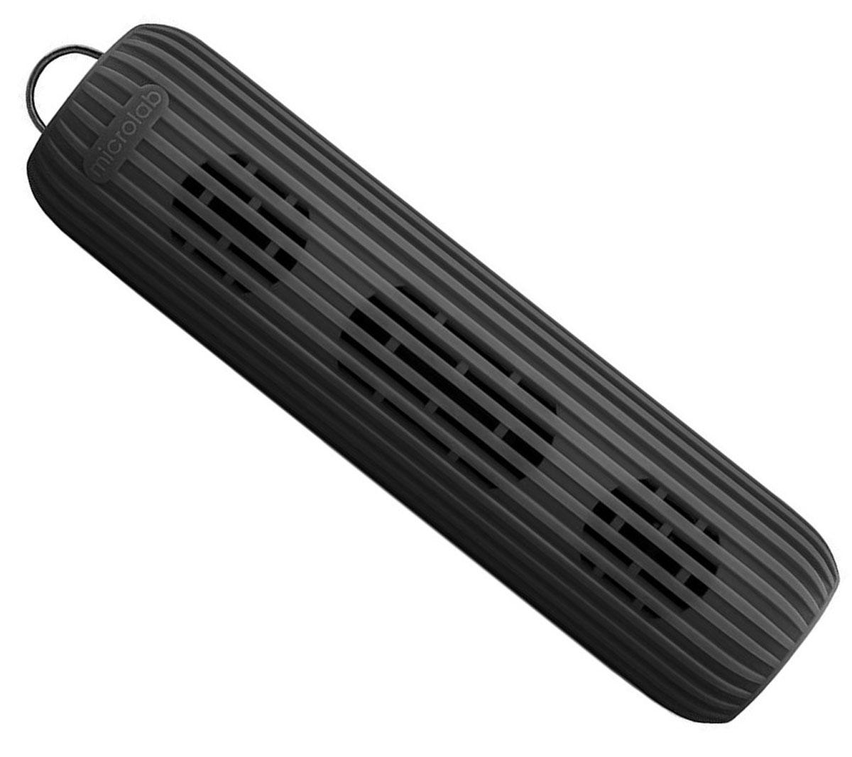Microlab D21, Black портативная акустическая система80527Акустическая система необычной формы и дизайна ориентирована на людей, ведущих активный образ жизни. D21 способна стать прекрасным спутником как на небольшом пикнике на природе, так и в долгом походе. Благодаря силиконовому покрытию корпуса, сателлит прощает слушателю небольшие ударные воздействия, а также прекрасно переносит как росу, так и небольшой дождик, что наряду с пылью, может стать фатальным для других портативных акустических систем. Небольшие размеры обеспечивают портативность системы, она не занимает много места и поместится в любом рюкзаке или сумке, а идущий в комплекте шнурок способен закрепить сателлит в походном варианте, позволяя избежать потери колонки. В Bluetooth-режиме при входящем звонке на телефон, можно ответить на звонок через сателлит. Благодаря встроенному в колонку микрофону, телефон искать не обязательно. Колонка способна воспроизводить музыку без источника звука. Чтобы послушать музыку, вам не обязательно ...
