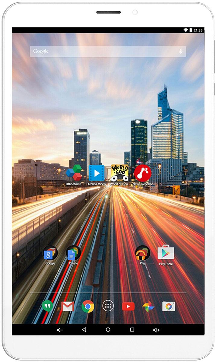 Archos 80b Helium80B HELIUMСозданный для поддержки 4G/LTE сетей со скоростью скачивания до 150 Мбит/с, ARCHOS 80b Helium использует в качестве основы 8-дюймовый HD-дисплей с IPS-матрицей, что гарантирует комфортный интернет-серфинг и яркие краски. Основываясь на четырехъядерном процессоре и ОС Android 5.1 Lollipop, ARCHOS 80b Helium сочетает в себе превосходный баланс между портативностью и практичностью. Сеть 4G ускоряет скорость работы на планшете: ARCHOS 80b Helium - полностью совместимый с технологией 4G/LTE (150 Мбит/с). С такой высокой скоростью соединения вы сможете открыть для себя новые возможности использования смартфона: сверхбыстрый просмотр Интернет-ресурсов, потоковое видео Full HD, онлайн-игры, мгновенный доступ к облачным хранилищам и многое другое. Технология сенсорного экрана IPS: Разрешение 1280 x 800 ARCHOS 80b Helium означает, что вы увидите каждую деталь ваших фотографий или видеозаписей. IPS-технология сенсорного экрана ARCHOS 80b Helium...