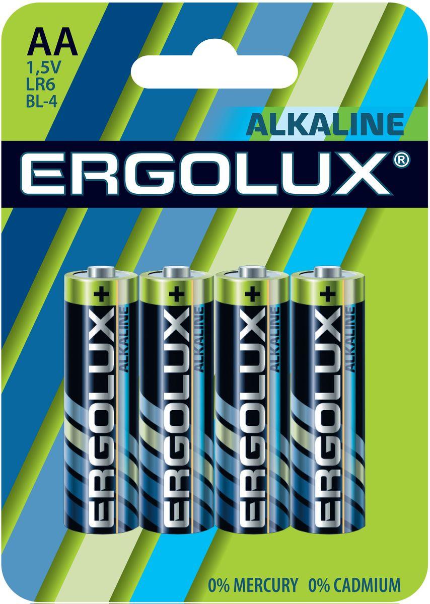 Батарейка алкалиновая Ergolux, тип LR6, 4 шт, 1.5 В11748