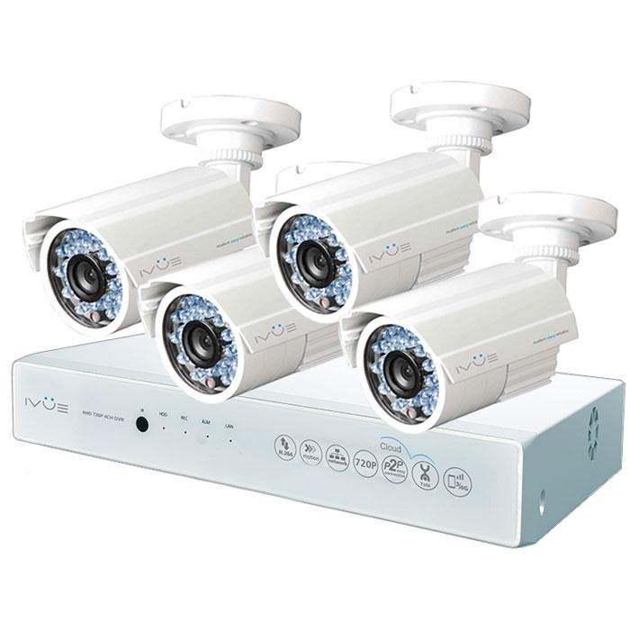 iVue D5004 AHC-B4 Дача 4+4 комплект видеонаблюденияIVUE-D5004 AHC-B4Комплект видеонаблюдения iVue D5004 AHC-B4 Дача 4+4 - это профессиональный набор систем охранного видеонаблюдения за вашим бизнесом, домом, дачей и т.д. Комплект включает в себя видеорегистратор AHD и 4 внешние всепогодные видеокамеры с разрешением сенсора 1 Мпикс,. AHD - самая современная технология кодирования и передачи видеоизображения по коаксиальному кабелю. Она позволяет передавать изображение с разрешением до 2 Мпикс на расстояние до 500 метров без потери качества изображения. Вы можете наблюдать за вашей собственностью из любой точки мира через интернет с помощью компьютера, планшета или смартфона. Простота подключения обеспечивается облачной технологией P2P. У вас так же есть возможность дополнить этот набор одной или двумя камерами по вашему выбору. Жесткий диск для этого набора приобретается отдельно и может иметь размер до 4 ТБ, что позволит вам поддерживать архив до 2-х месяцев без потери качества изображения. Набор...