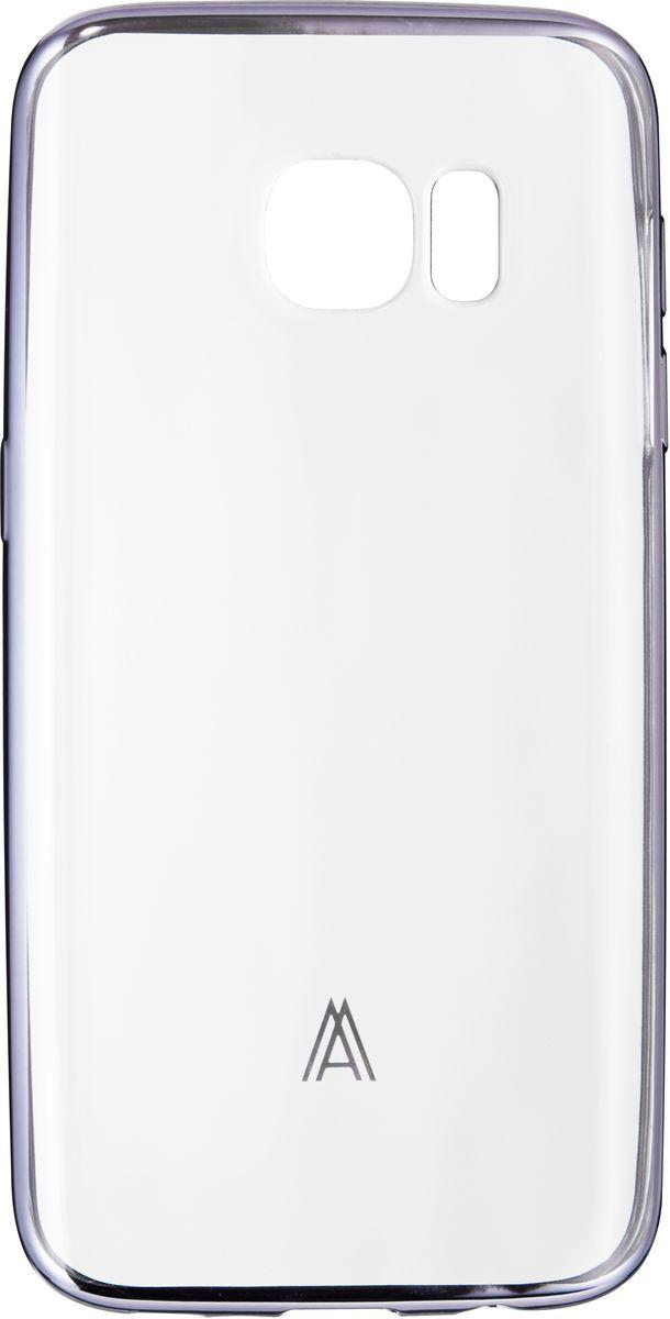 Anymode Luxe Soft Skin чехол для Samsung Galaxy S7 Edge, Silver