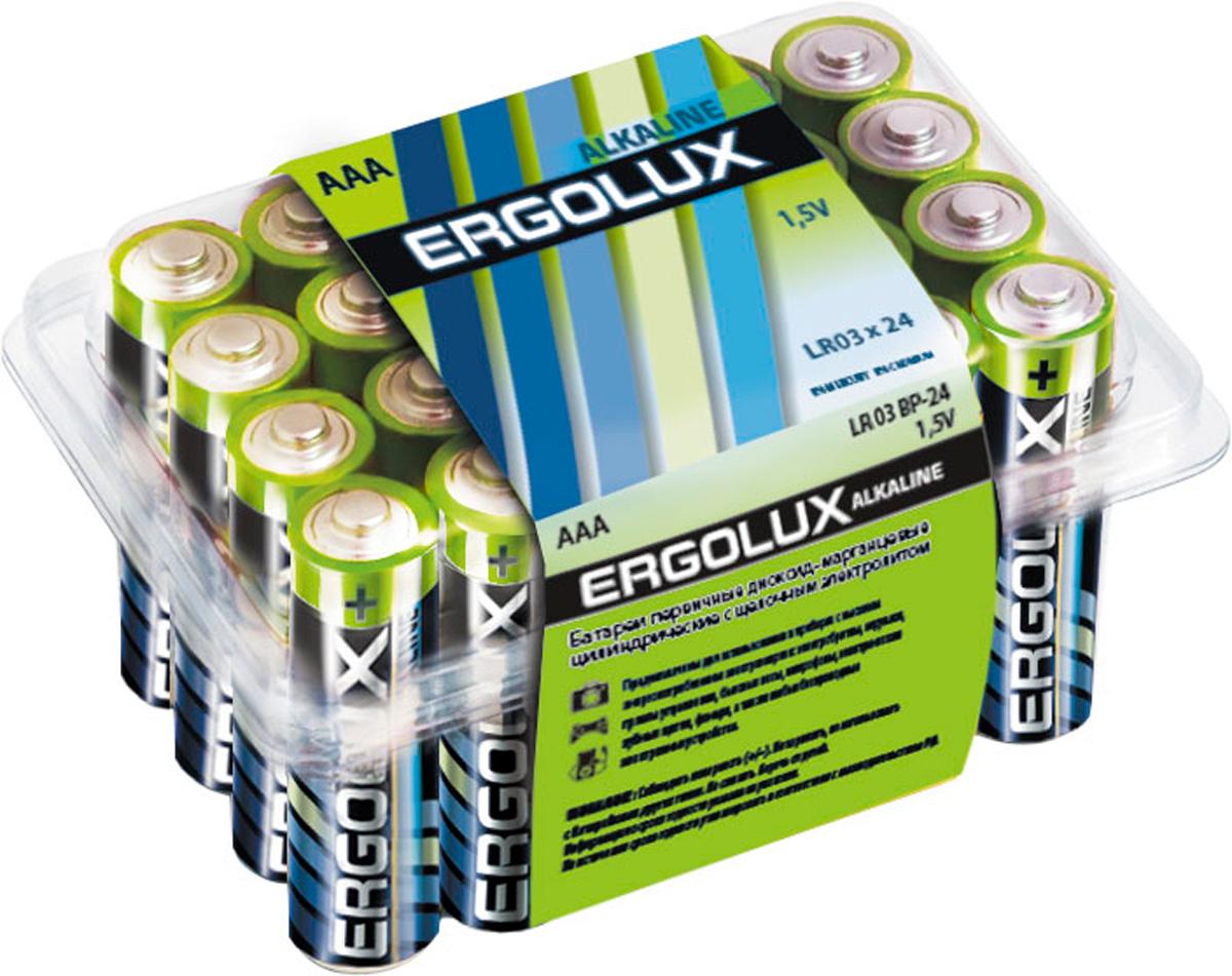 Батарейка алкалиновая Ergolux, тип LR03, 24 шт, 1.5 В11746