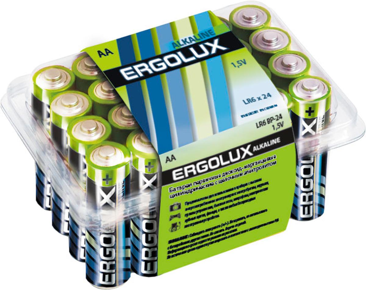 Батарейка алкалиновая Ergolux, тип LR6, 24 шт, 1.5 В11750
