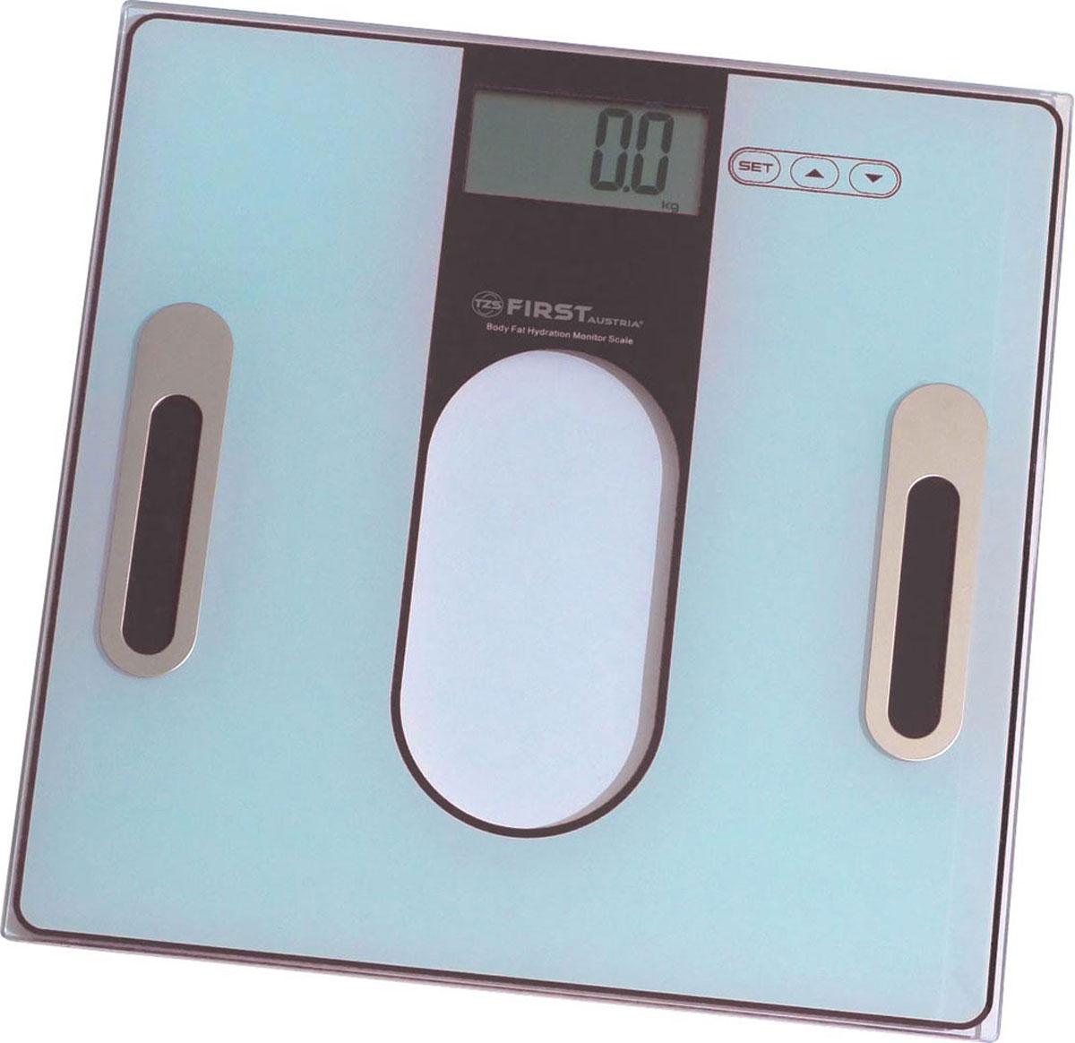 First 8006-2, Black весы напольныеFirst 8006-2, BlackСтильные напольные весы First 8006-2 помогут не только контролировать свой вес с точностью 100 грамм, но и станут еще одним атрибутом любого интерьера, так как имеют устойчивую и особо прочную стеклянную платформу. Корпус весов сверхтонкий, на нем расположен удобный жидкокристаллический дисплей с диагональю 1,4. Весы имеют функцию памяти на 12 пользователей.