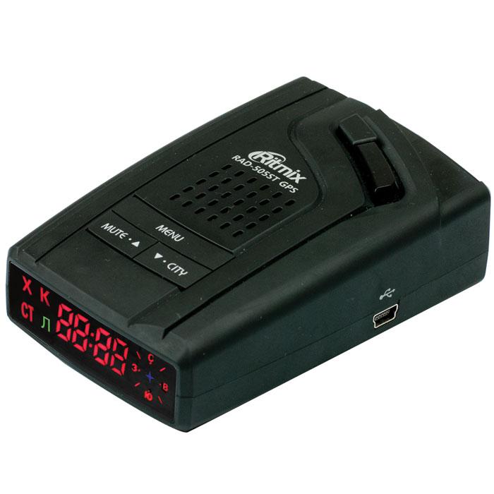 Ritmix RAD-505ST GPS радар-детектор15118220Ritmix RAD-505ST GPS – надёжный лазер/радар-детектор с встроенным GPS / GLONASS-приёмником и базой данных координат радаров и камер, адаптированный для РФ и стран СНГ. Устройство обнаруживает целый ряд измерительных приборов, в том числе и лазерные полицейские радары последнего поколения, такие как ЛИСД, АМАТА. Детектор поддерживает технологию VCO (генератор, управляющий напряжением), которая выполняет фильтрацию ложных сигналов, значительно повышает точность и скорость работы устройства, а также продлевает срок его эксплуатации. Предусмотрено четыре режима чувствительности, имеется функция отключения GPS и отдельных диапазонов, а также возможность сохранения в памяти собственных точек координат радаров. RAD-505ST GPS выполнен в эргономичном дизайне, поверхность устройства имеет приятное на ощупь SoftTouch- покрытие. Обновляемая прошивка Функция компаса Режимы чувствительности: Трасса, Город 1, Город 2, Smart Настройка...