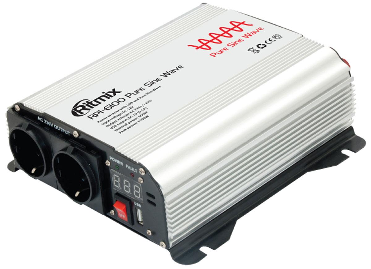 Ritmix RPI-6100 Pure Sine преобразователь напряжения