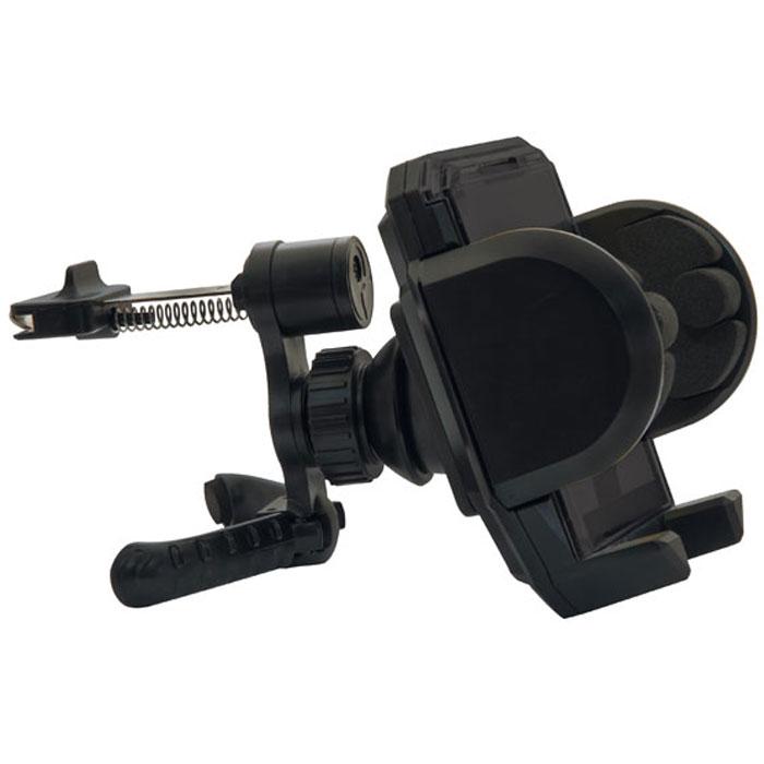 Ritmix RCH-001 V держатель для мобильного телефона15116952Ritmix RCH-001 V – это универсальный автомобильный держатель для компактных гаджетов, простой и удобный в эксплуатации. Устройство поворачивается на 360° и фиксируется в любой позиции. Как много нужно сделать за рулем: и управлять автомобилем, и прокладывать путь, и держать телефон поблизости, а рук не хватает. Ritmix RCH-001 V будет вашей рукой и надежно позаботится о вашем телефоне, пока вы заняты дорогой. Держатель сделает поездку приятной и комфортной, так как общение и интернет-серфинг будет всегда под рукой и на виду. Крепление на вентиляционную решетку автомобиля. Подходит для телефона, смартфона, КПК, навигатора, плеера и других устройств шириной не более 12 cм. Фиксация устройства в держателе одной рукой. Мягкие боковые зажимы предотвращают царапанье. Простая установка/снятие без использования дополнительных инструментов.