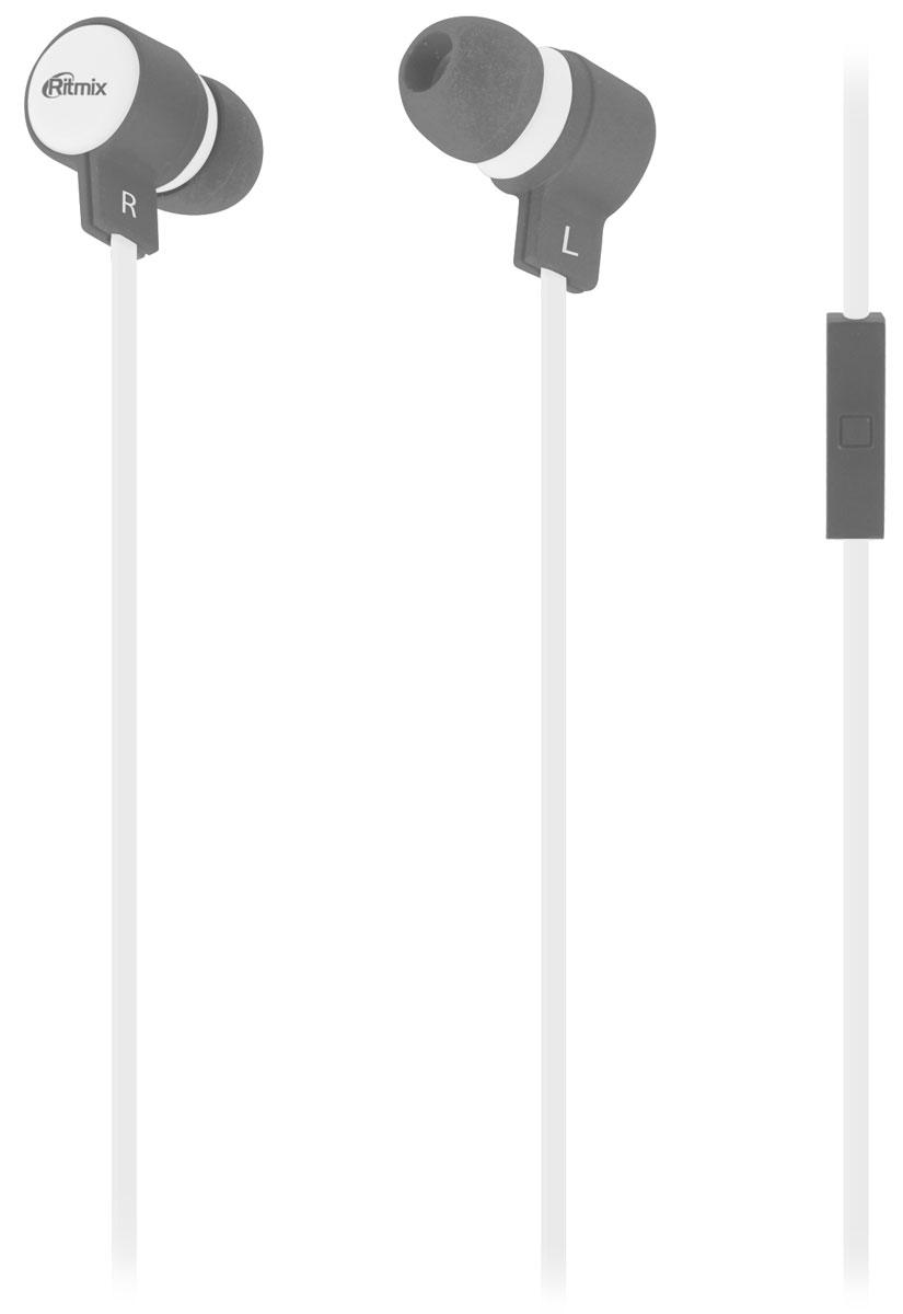 Ritmix RH-191M, White Gray наушники