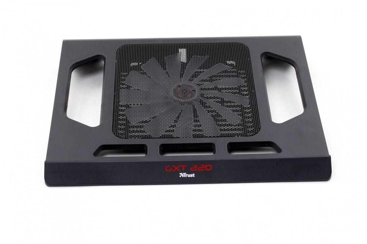 Trust GXT 220 охлаждающая подставка для ноутбука20159Охлаждающая подставка Trust GXT 220 для игровых ноутбуков с большим бесшумным красным вентилятором и подсветкой. Обеспечивает охлаждение ноутбука даже при сильных нагрузках. Подходит для ноутбуков с диагональю экрана до 17,3 дюймов. Большой красный вентилятор с подсветкой Бесшумный вентилятор, подключаемый через разъем USB Диаметр вентилятора: 170 мм