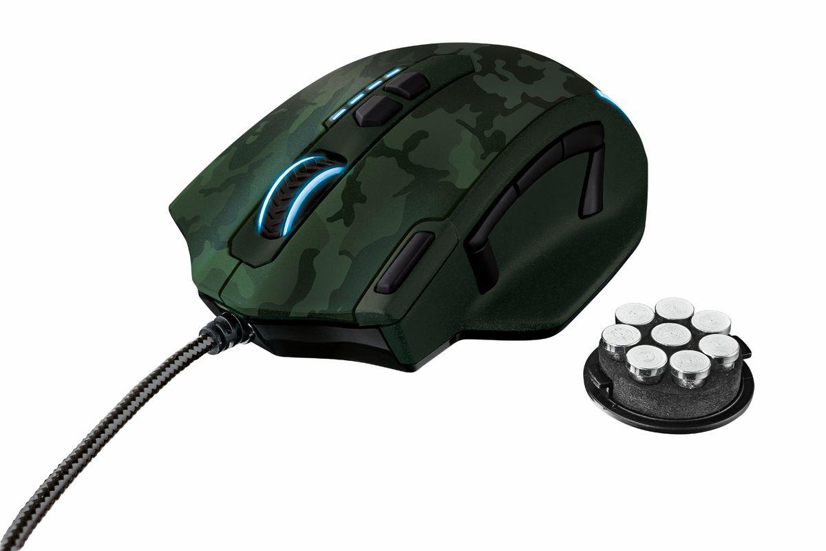 Trust GXT 155C, Green игровая мышь